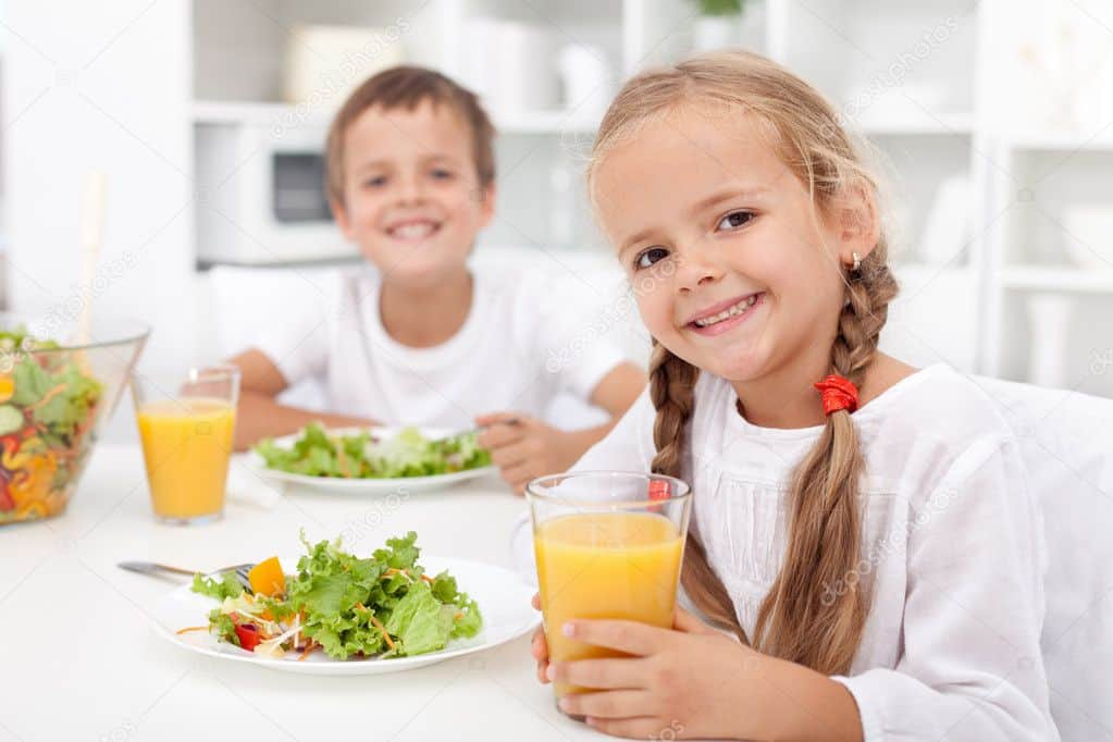 Depositphotos 7538993 Stock Photo Kids Eating A Healthy Meal